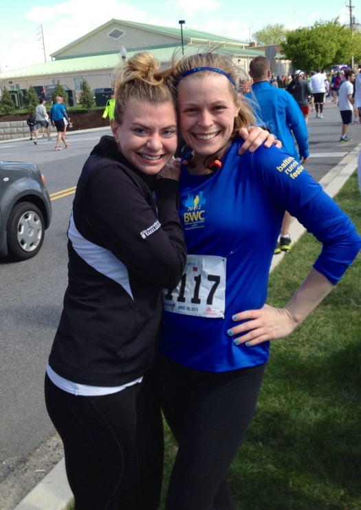 Me and Dianne after the Charm City Run Sole of the City 10K
