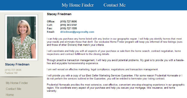 Stacey Friedman with Prudential Homesale Services Group