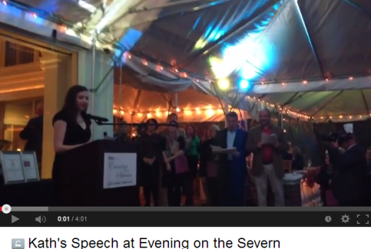 Kath's Speech at Evening on the Severn - YouTube