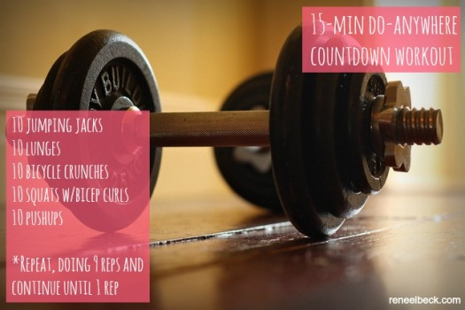 15-min do-anywhere countdown workout
