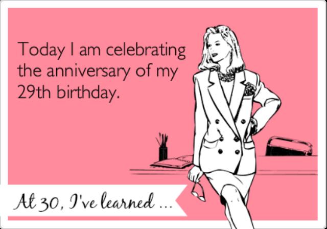 Anniversary of 29th birthday