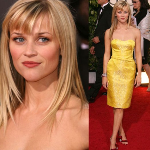 reese witherspoon yellow dress post divorce red shoes