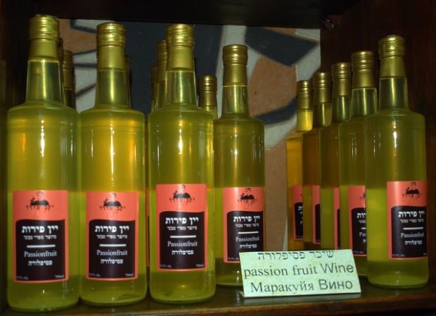 Passion fruit wine, not mango wine (via Wikipedia)