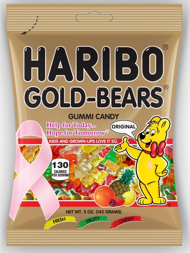 Pink Ribbon Gold-Bears Bag (1)
