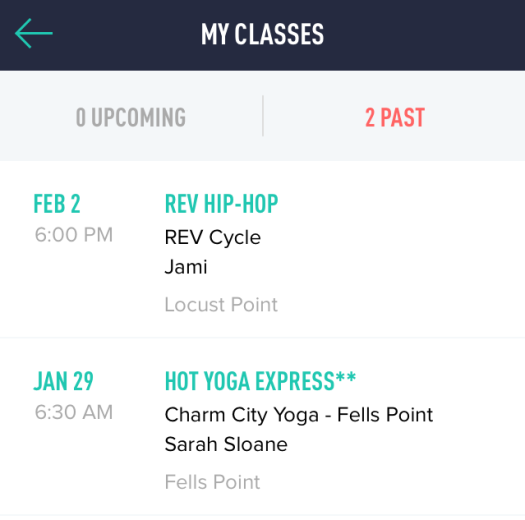 I Thought Classpass Had Moved To A Point System