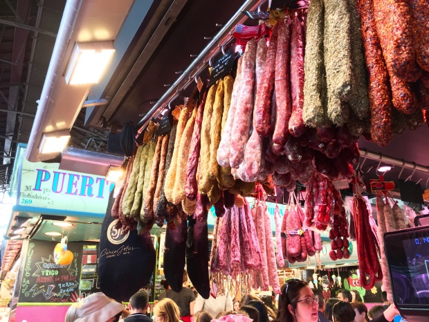 Hanging meats, all for the eating