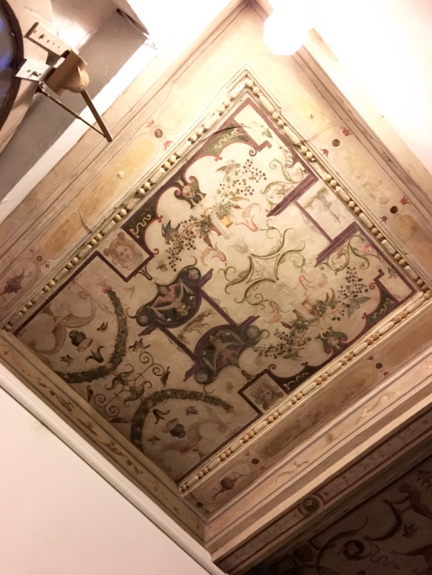 The ceiling in our Airbnb