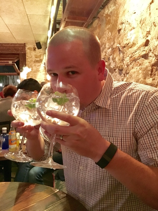You don't double-fist G&Ts?