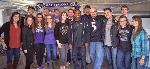 The day that Justin Forsett popped by the office